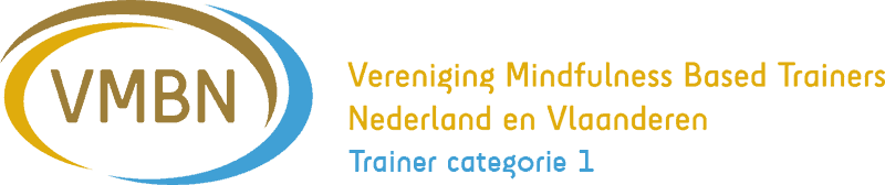 Erkend trainer categorie 1 Vereniging voor Mindfulness Based Trianers Nederland en Vlaanderen.